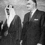 الملك فيصل و عبدالناصر