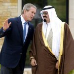 Bush Meets With Saudi Cro
