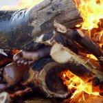 صور احراق الميت فى الهند 9