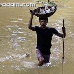 هندي ينقذ جراء قطه من الغرق {1