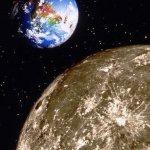 فضائية\الأرض والقمر-ناسا