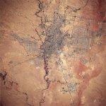 تصوير فضائي لمدينة الرياض