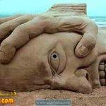 صور غريبه للنحت ع الرمال3