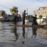 صور الأمطار العنيفة على غزة 1