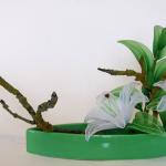 زهور مصنوعة من الجوارب الشفاف1