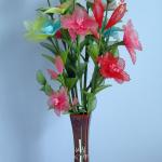 زهور مصنوعة من الجوارب الشفاف3