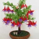 زهور مصنوعة من الجوارب الشفاف7