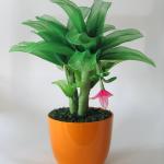 زهور مصنوعة من الجوارب الشفاف9