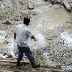 آثار الفيضانات والانزلاقات ال8