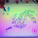 فن الرسم على الماء 1