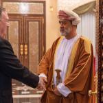 السلطان هيثم يستقبل وزير الخارجية الامريكي