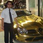 صور لسيارة صنعت من الذهب3