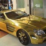 صور لسيارة صنعت من الذهب5