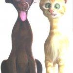 قط وكلب