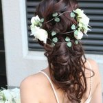 تسريحات العروس مع الورد 1