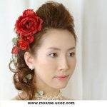تسريحات العروس مع الورد 2