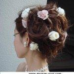 تسريحات العروس مع الورد 3