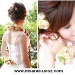 تسريحات العروس مع الورد 4