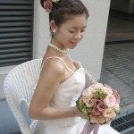 تسريحات العروس مع الورد 5