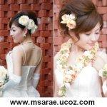 تسريحات العروس مع الورد 6
