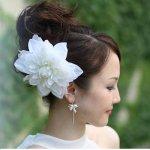 تسريحات العروس مع الورد 8