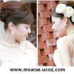 تسريحات العروس مع الورد 9