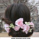 تسريحات العروس مع الورد 13