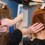 طريقة رفع الشعر بالمنزل......6