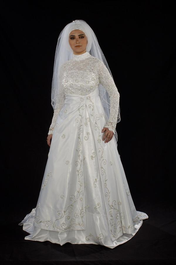 فستان زفاف للمحجبات فستان زفاف