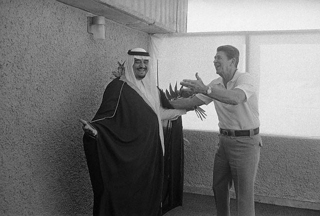Ronald Reagan and King Fahd, October 23, 1981