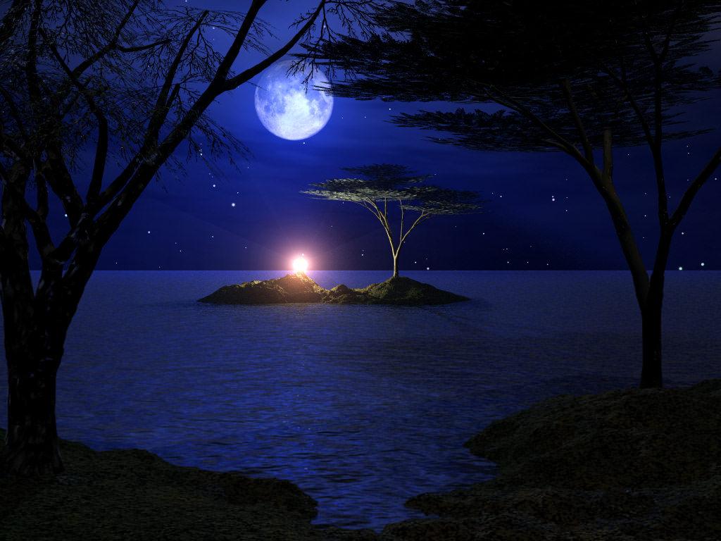 ... - معاينة الصورة القمر في الليل