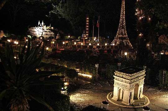 باريس فبناها حديقة منزله